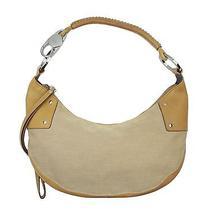 Gucci Khaki Canvas & Leather Hobo Moon Handbag Bag Photo