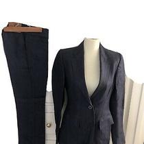 Gucci Ladies Denim Jean Blue Suit Size Jacket  38 & Pants Size 40 Photo