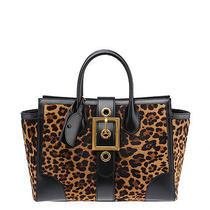 Gucci Lady Buckle Leopard Print Pony Hair and Black Leather Shoulder Tote Photo