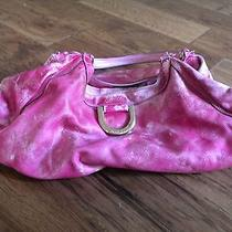 Gucci Leather D Ring Hobo Distressed Pink Photo