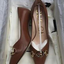 Gucci Leather Mid-Heel Pumps Size 35 Photo