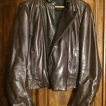 Gucci Leather Motorcycle Jacket Coat Size 50 Photo