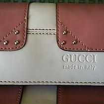 Gucci Leather Pink and White Purse--Cute Design Photo