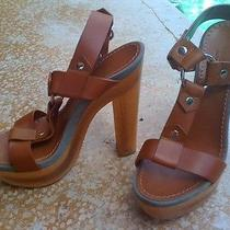 Gucci Leather & Wood Sandals- Brand New Photo