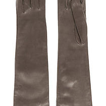Gucci Long Leather Gloves Charcoal Leather  Photo