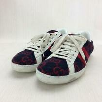 Gucci Low-Cut Wool Uk8 Nvy Wool 548695 Size Uk8 Navy Sneaker 2677 From Japan Photo