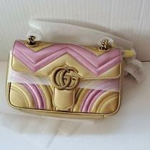 Gucci Marmont Mini Metallic Leather Shoulder Bag Photo
