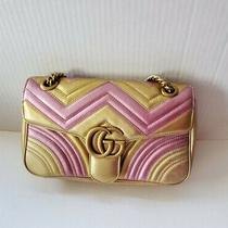 Gucci Marmont Small Metallic Leather Shoulder Bag Photo