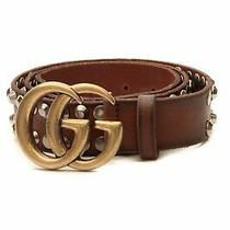 Gucci Marmont Studded Belt - Brown Size 38 Photo