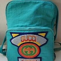 Gucci Medium Nylon Backpack With Gucci '80s Patch Photo