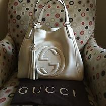 Gucci Medium Soho Shoulder Bag Off White Photo