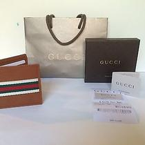 Gucci Men's Bifold Wallet - Leather With Classic Colored Stripes 231845 Photo