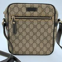 Gucci Messenger 233268 Gg Supreme Coated Canvas Brown Beige Cross Body Bag Photo