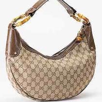 Gucci Monogram Bamboo Ring Shoulder  Hobo Bag Photo