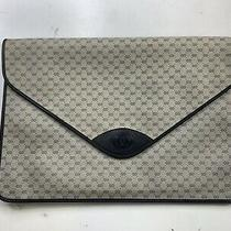 Gucci Monogram Portfolio/document Holder Vintage Authentic Blue Large Clutch Photo