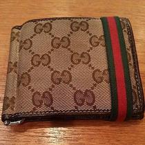 Gucci Monogram Wallet With Strap 100% Authentic Photo