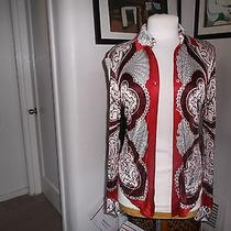 Gucci Multi Colored Rayon Top Yet Feels Like Silk Top Size 42  Good Condit Photo