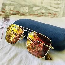 Gucci Navigator Skull Ghost Print Sunglasses Photo