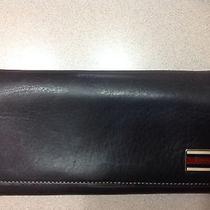 Gucci Navy Wallet 100% Authentic Photo