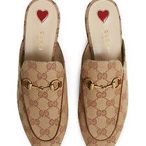 Gucci New Authentic Princetown Gg Slippers Size 38 Photo