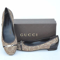 Gucci New Sz 38.5 - 8.5 Italy Womens Designer Horsebit Ballet Flats Shoes Photo