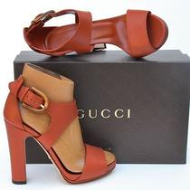 Gucci New Sz 38 - 8 Designer Authentic Bamboo Womens Sandals Heels Shoes 795  Photo