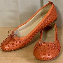 Gucci Orange Leather Studded Spikes Ballet Womens Flats Shoes sz.38 Us 8 Photo