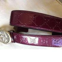 Gucci Patent Leather Belt  Photo