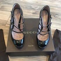 Gucci Patten Leather Pumps. Black. Size 39 Photo