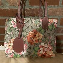 Gucci Pink Blooms Reversible Bloom Tote Handbag Bag Purse 100% Authentic Photo