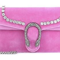 Gucci Pink Crystal Velvet Mini Dionysus Bag Clutch Purse New Sold Out Photo