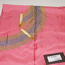 Gucci Pink Silk Bracelet Link Pattern Scarf New With Tags Gorgeous 20121 Photo
