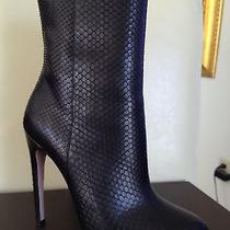 Gucci  Python Black Leather Boots/ Booties/ Shoe/ New Size 38.5/ 8.5 1995 Photo
