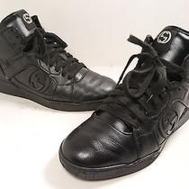 Gucci 'Rebound' Mid High Top Sneaker Black Size 7 G (Us 8) Photo