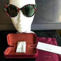 Gucci Red/green/blue Cat Eye Sunglasses With Case (Gg0028s) Photo
