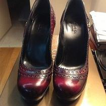 Gucci Red Lacquer  Shoes Sz 6 Photo