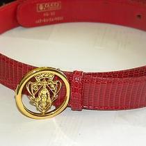 Gucci Red Lizard Belt Photo