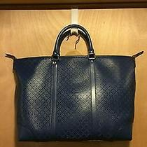 Gucci Royal Blue Leather Diamante Tote Bag Photo