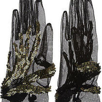 Gucci Sequin Embellished Stretch Mesh Gloves Photo