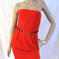 Gucci Sexy Red Strapless Corset Horsebit Belt Dress Large L 1495 Photo