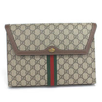 Gucci Sherry Line Ophidia Gg Supreme & Leather Clutch Bag 625713 562600 53063 Photo