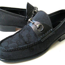 Gucci Shoes Womens Gucci Monogram Horsebit Loafers Primo Womens Size 8.5 - 9 Photo