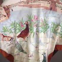 Gucci Silk Scarf Italian Skyline With Birds Photo