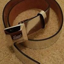 Gucci Silver Belt Size 32  Photo