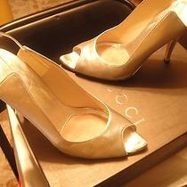 Gucci Silver Peeptoe Pumps 38/8 Photo