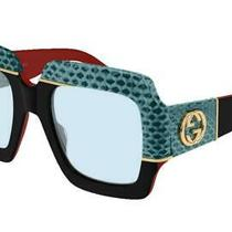 Gucci Snake Fantasy Black Blue Sunglasses Gg0484s 005 W/case - Italy- 1512 Auth Photo