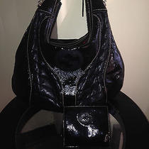 Gucci Snow Glam Hobo and Wallet Black Leather/patent Leather Photo