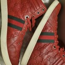 Gucci soft/gucc.soft/ns.nyl Rosso Red Hightop Men Sneakers Size 11 Photo