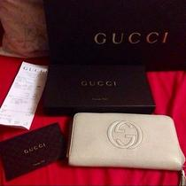 Gucci Soho Beige Leather Wallet Photo