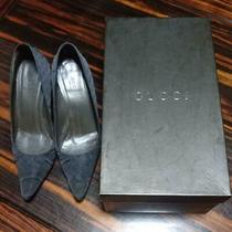 Gucci  Stiletto Heel Pumps  Blue Gray Size 36  Us 6 No Box Photo